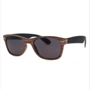 A.J. Morgan Lumberjack light wood sunglasses NWT